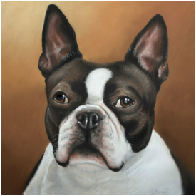Pet portrait custom dog portrait gift
