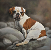 bulldog portrait dog gift unique gift