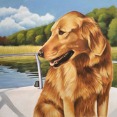 unique pet gift gold retriever portrait