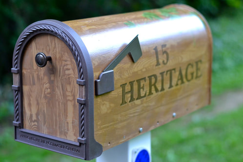 custom mailbox gift newlywed new home owners