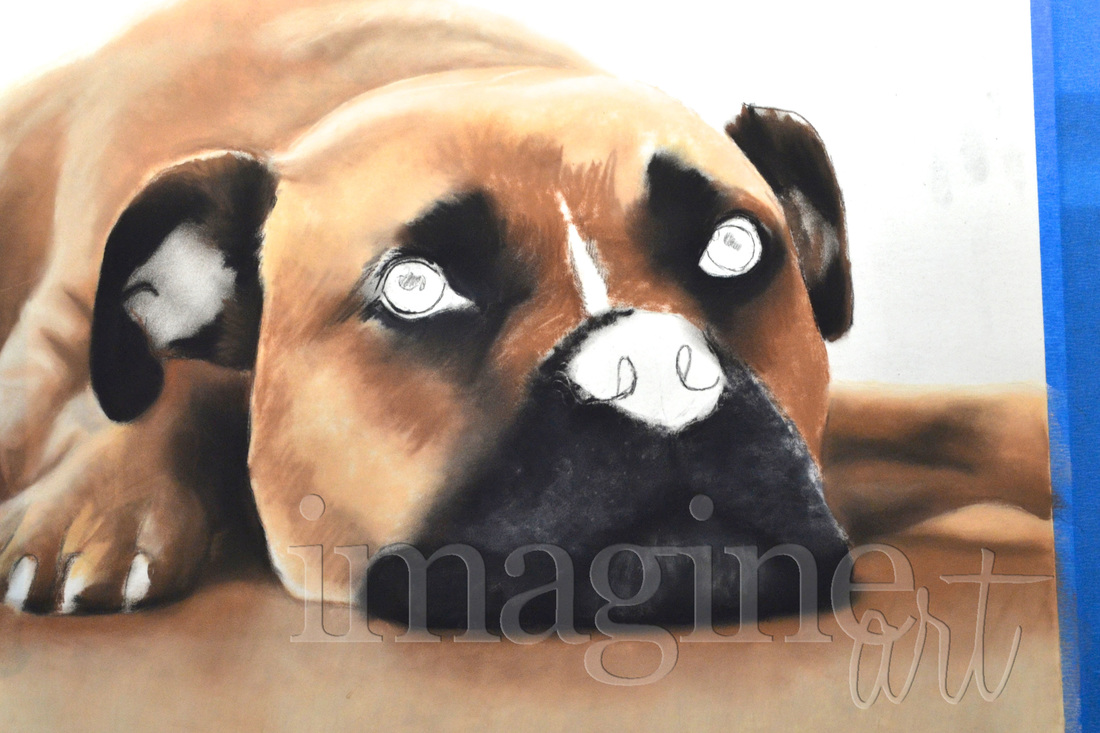 custom dog pet portrait gift imagine art